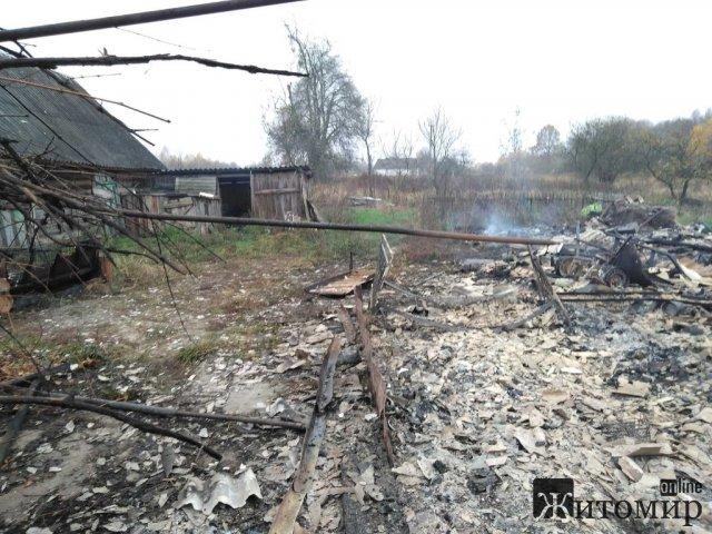 У селі Ємільчинського району горів будинок, де наприкінці жовтня вже була пожежа. ФОТО