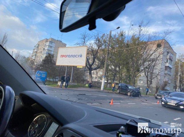 На Чуднівському мосту в Житомирі сталася ДТП. ФОТО