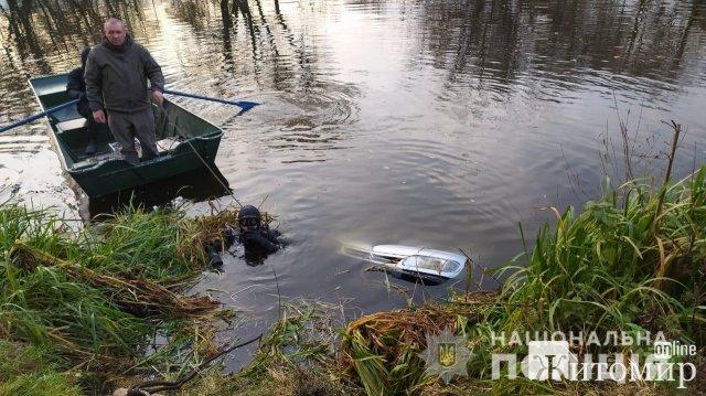 На Житомирщині з дна річки дістали автомобіль з тілами чоловіка та хлопчика. ФОТО. ВІДЕО