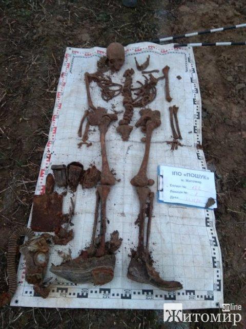 На полі в Житомирській області пошуківці знайшли рештки солдата, який загинув у 1941 році. ФОТО