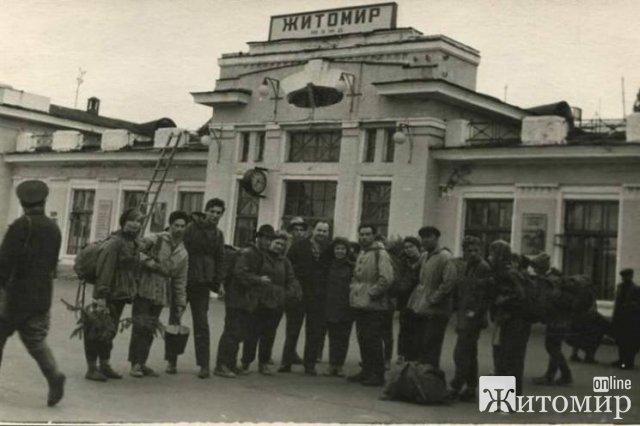 Житомирський залізничний вокзал 50-х років. ФОТО