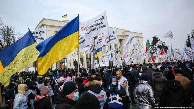 У Києві обурені підприємці розпочинають марш по Хрещатику. ВІДЕО