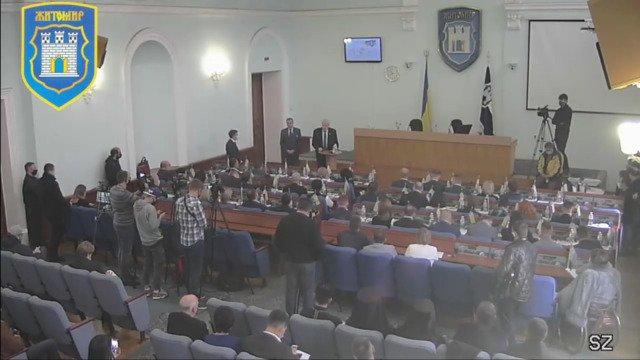 Почесний житомирянин Валентин Острожинський виступив на першій сесії Житомирської міськради