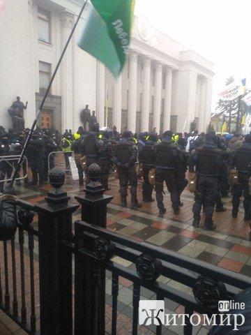На акції протесту у Києві дуже багато поліції. ФОТО. ВІДЕО