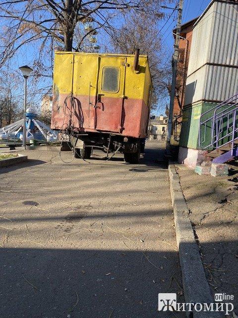 В житомирском парке Шодуар утром прорвало трубу. ФОТО