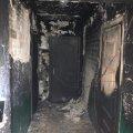 У Житомирі підпалили під'їзд у будинку. ФОТО