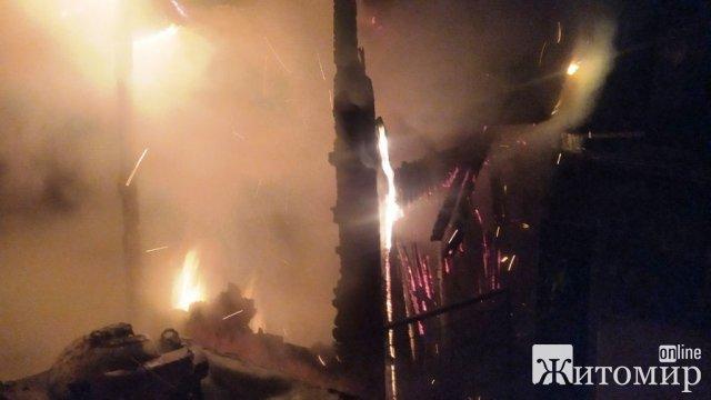 За добу в Овруцькому районі горіла будівля, а в Черняхові - дерев'яний піднавіс. ФОТО