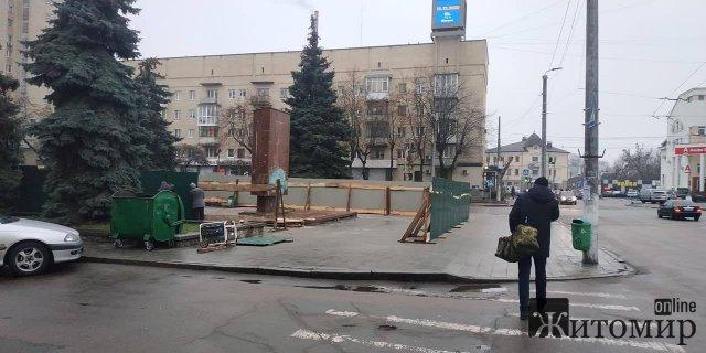 В центре Житомира готовятся к строительству памятника защитникам Украины. ФОТО