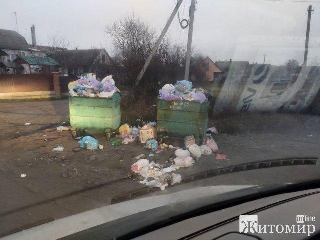 Жителі Тетерівської ОТГ бідкаються, що з дворів не вивозять сміття. ФОТО