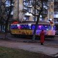 Житомиром курсував музичний трамвай з казковими героями. ВІДЕО