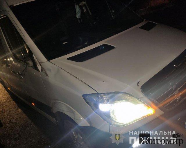 На Житомирщині автомобілі збили двох жителів Новограда-Волинського району. ФОТО