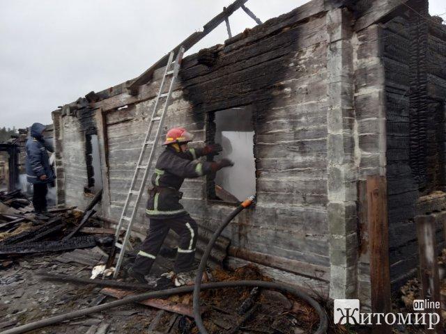 За добу в пожежах на Житомирщині загинули три людини. ФОТО