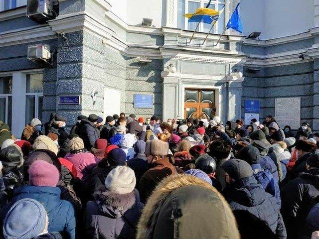 У Житомирі пройшов мітинг проти тарифів. ФОТО
