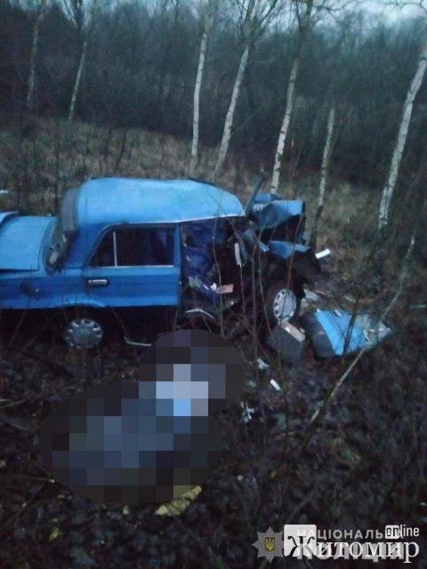 Подробиці смертельного ДТП у Малинському районі: ВАЗ врізався у дерево. ФОТО
