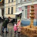 На Михайлівській в Житомирі встановили Дідуха, якого виготовили в Рівному ФОТО