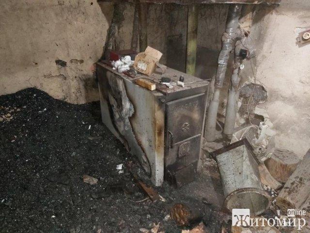 На Житомирщині горіли дві котельні. ФОТО