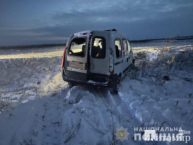 На дорозі в Житомирській області перекинувся Renault: травмовані троє, серед яких 5-річний хлопчик. ФОТО