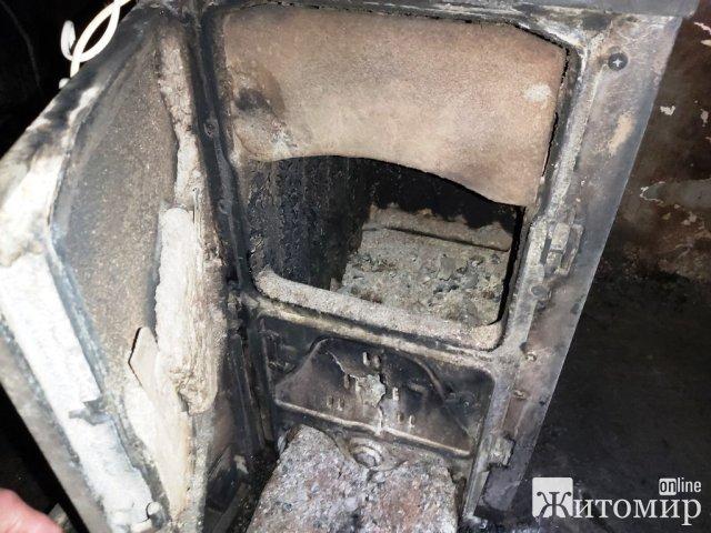 На території дитсадка в Житомирській області горіла котельня. ФОТО