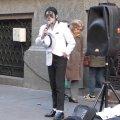 МУЗІКА. Michael Jackson en la peatonal de Rosario