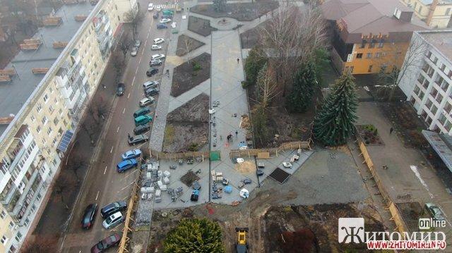Як у Житомирі підрядна організація познущалася з клумби на Новому бульварі. ФОТО