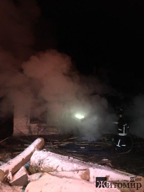 У селі Коростишівського району на пожежі травмувався чоловік: потерпілого госпіталізували до Житомира. ФОТО