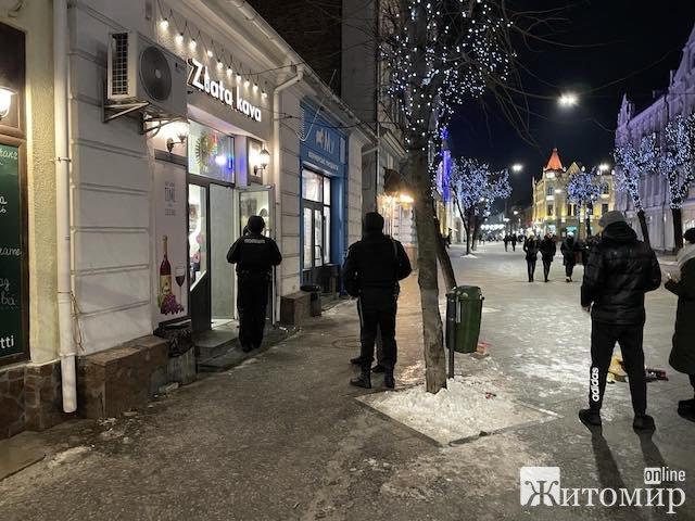 Вечірній конфлікт у кав'ярні на Михайлівській. ФОТО