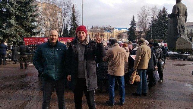 Акция протеста против драконовских тарифов на площади Королёва