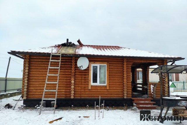 На Житомирщині горіла лазня. ФОТО