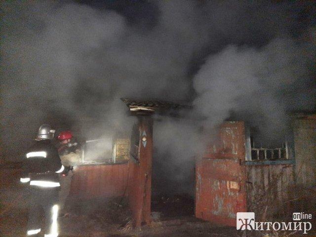 У селі Житомирської області горіла хата, захаращена сміттям. ФОТО