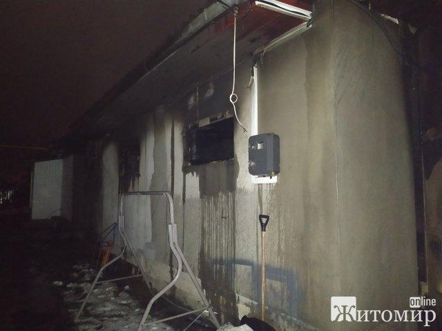 У Новограді-Волинському палав гараж. ФОТО