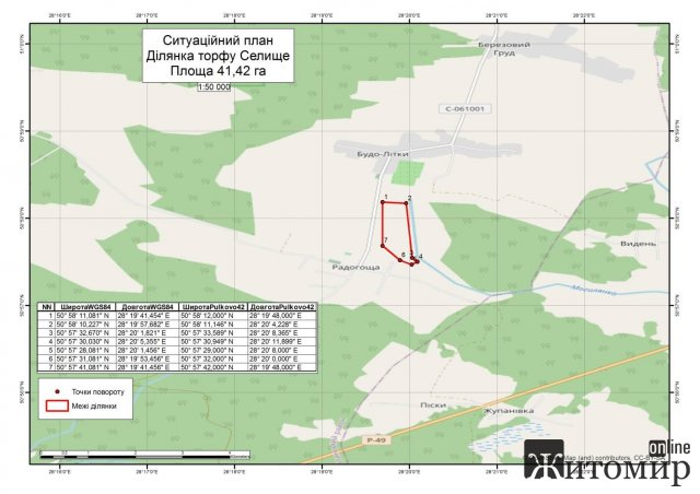 На Житомирщині продали понад 40 га під видобуток торфу. ФОТО