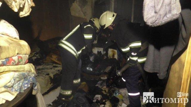 На провулку каретному в Житомирі горіла завалена сміттям квартира: рятувальники знайшли ледь дихаючу кішку. ФОТО