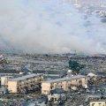 """На АЭС """"Фукусима"""" из-за землетрясения расплескалась вода из радиоактивных бассейнов. Видео"""