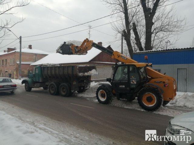 З Житомира за минулу добу вивезли 1200 т снігу. ФОТО