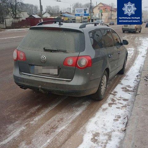У Житомирі водій Volkswagen пропонував патрульним 150 гривень хабаря. ФОТО