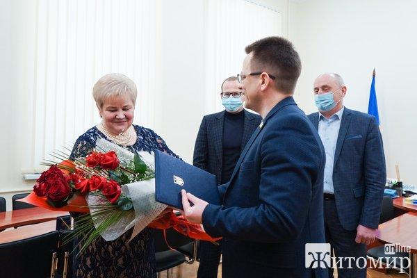 Професорка житомирського Поліського національного університету отримала почесну відзнаку. ФОТО