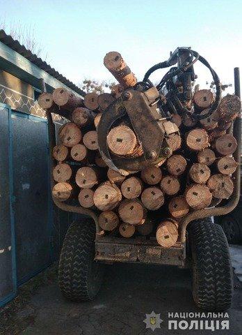 На Житомирщині затримали три вантажівки з нелегальним лісом. ФОТО