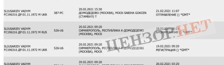 Когда введут санкции и депортируют члена политсовета Слуги народа, который десятки раз нарушал режим санкций и незаконно летал в Крым?