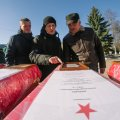 Житомирські пошуківці передали рештки 15 солдат  РСЧА. ФОТО