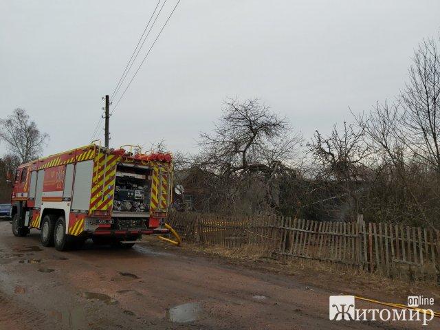 У селах трьох районів Житомирської області горіли будівлі. ФОТО