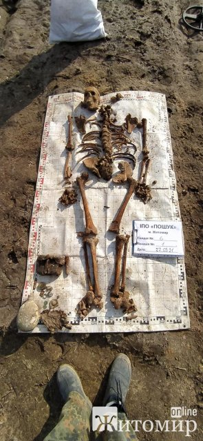 На Житомирщині пошуківці виявили двох солдат, які загинули у 1941 році. ФОТО