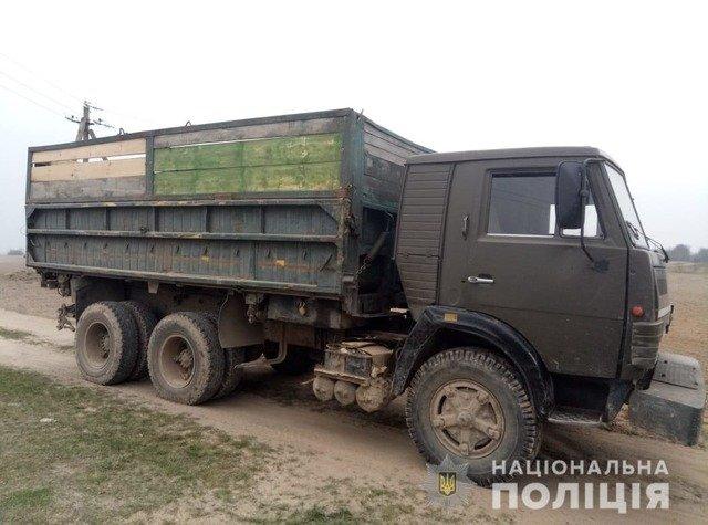 Неподалік Брусилова затримали КАМАЗ з нелегальною деревиною. ФОТО