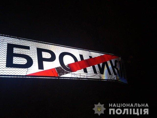 У Новоград-Волинському районі двоє чоловіків намагалися вкрасти дорожній знак. ФОТО