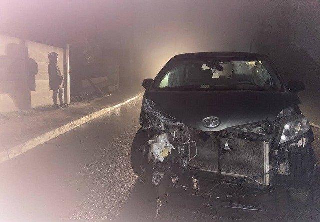 У Житомирському районі п'яний водій врізався у паркан. ФОТО