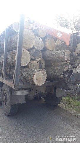 У Чуднівському районі затримали вантажівку з нелегальною деревиною. ФОТО