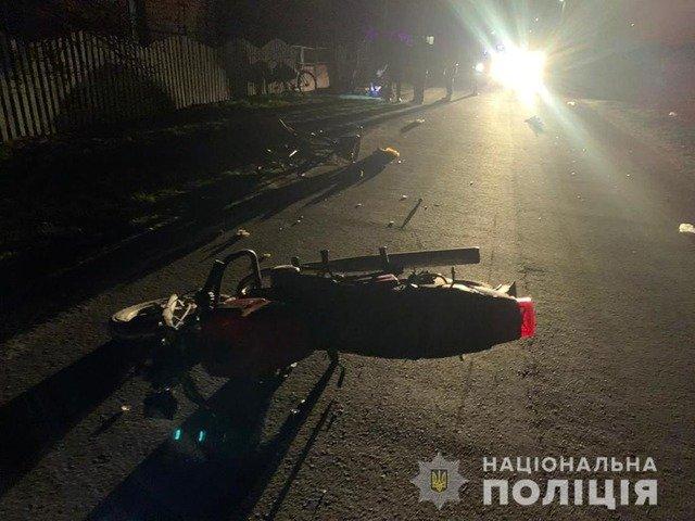 У Новоград-Волинському районі мотоцикліст насмерть збив велосипедистку. ФОТО
