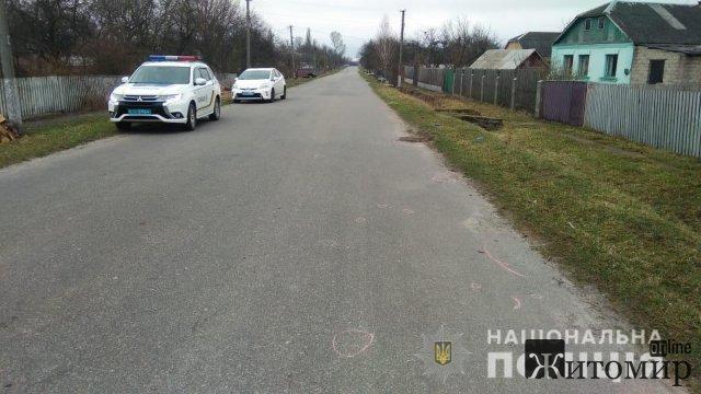 У селі на Житомирщині автомобіль, який належить поліцейському на смерть збив людину. ФОТО