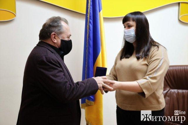 Ректору Житомирського медінституту вручили відзнаку. ФОТО