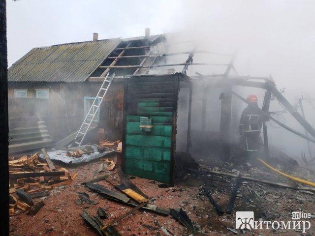 На території двох північних районів Житомирської області рятувальники гасили пожежі. ФОТО