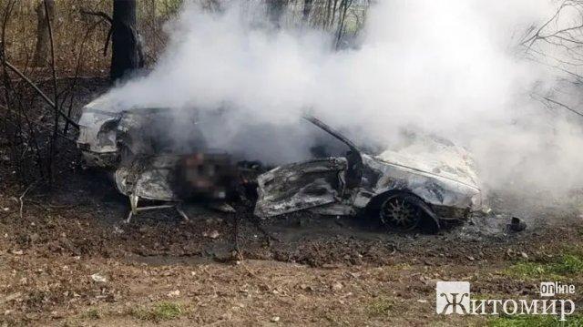 Audi слетела в кювет и загорелась. На трассе Житомир - Черновцы в ДТП погибли женщина и ребенок